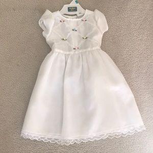 Other - Girls White Chiffon Rose Dress